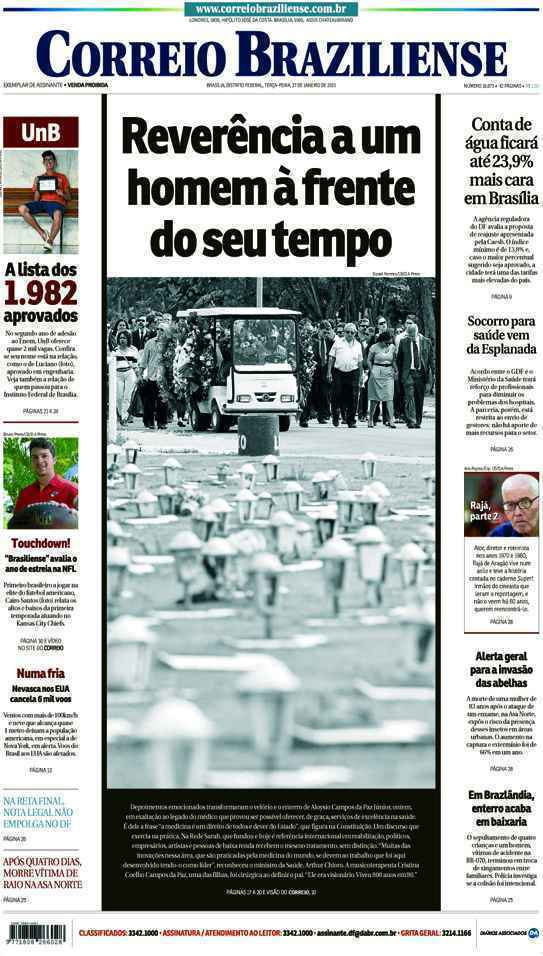 Correio Braziliense, 27 de Janeiro de 2015