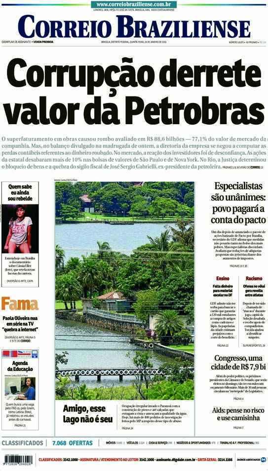 Correio Braziliense, 29 de Janeiro de 2015