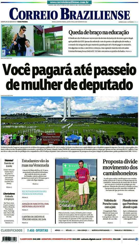 Correio Braziliense, 26 de Ferveiro de de 2015