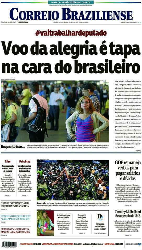 Correio Braziliense, 27 de Ferveiro de de 2015
