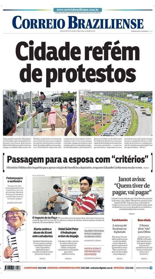 Correio Braziliense, 03 de Março de 2015