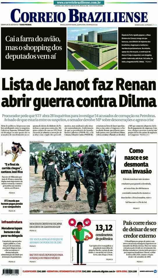 Correio Braziliense, 04 de Março de 2015