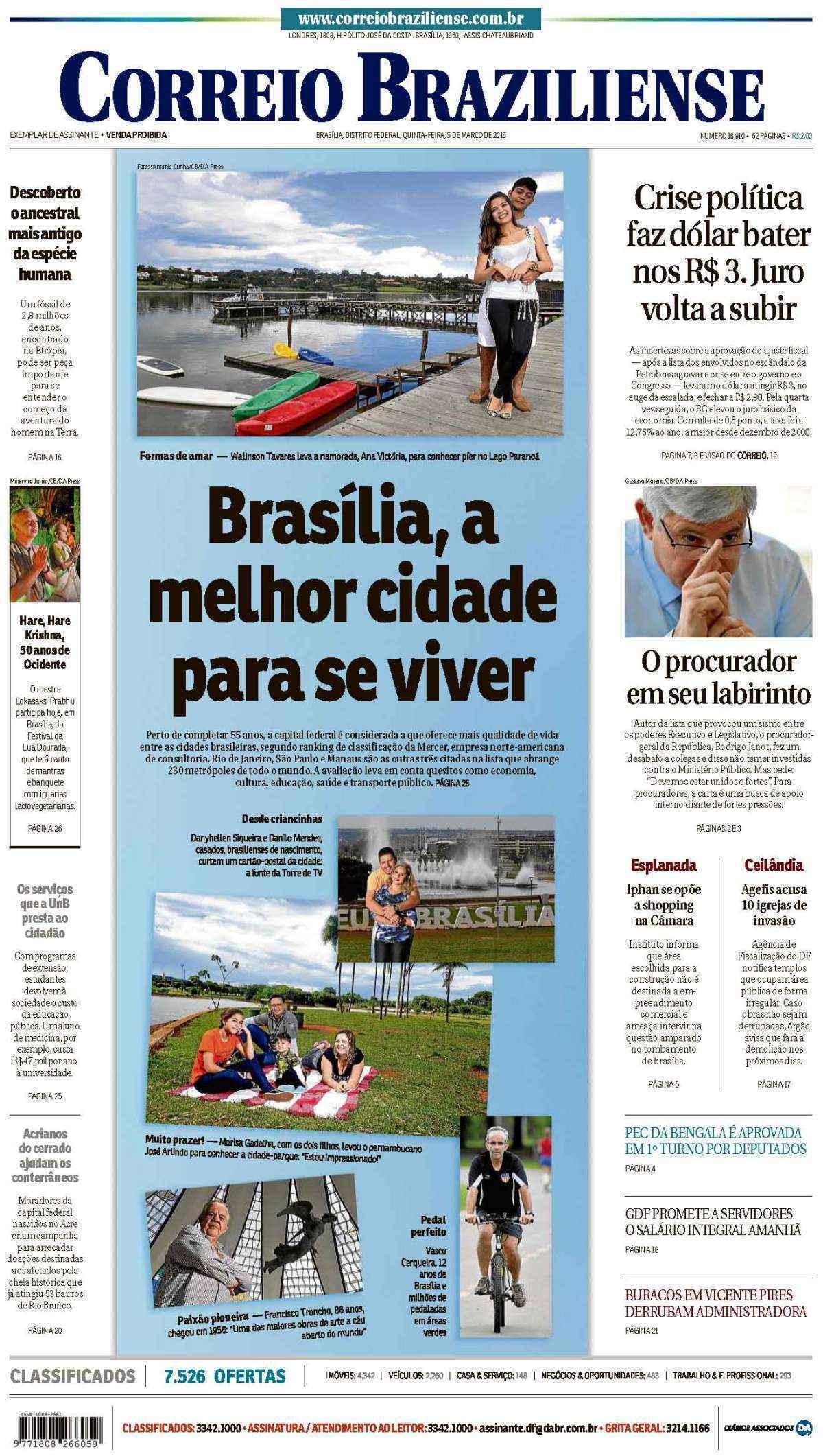 Correio Braziliense, 05 de Março de 2015