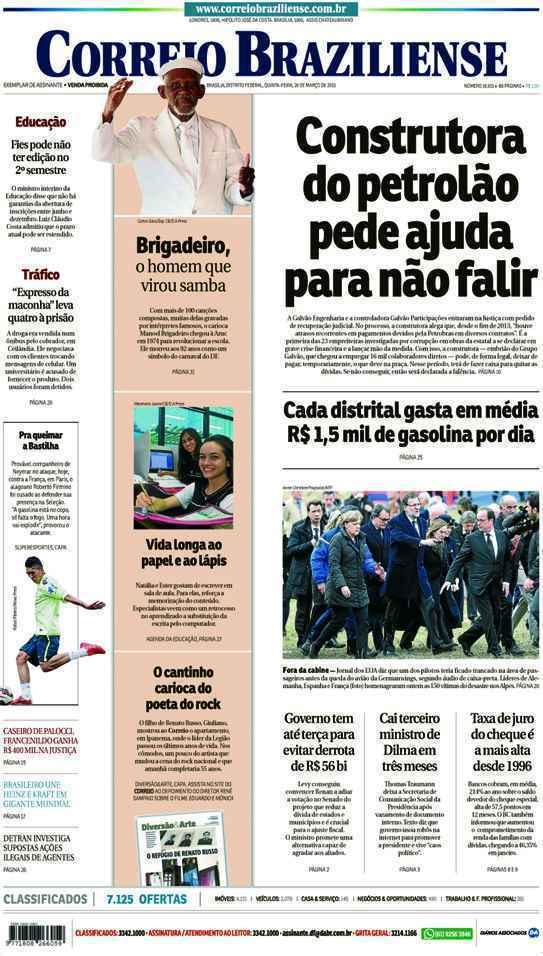 Correio Braziliense, 26 de Março de 2015
