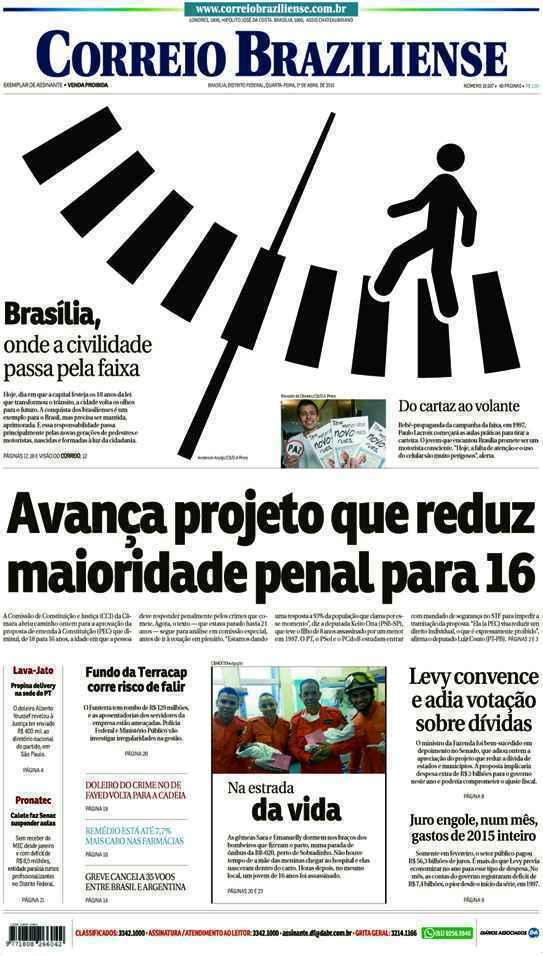Correio Braziliense, 01 de Abril de 2015