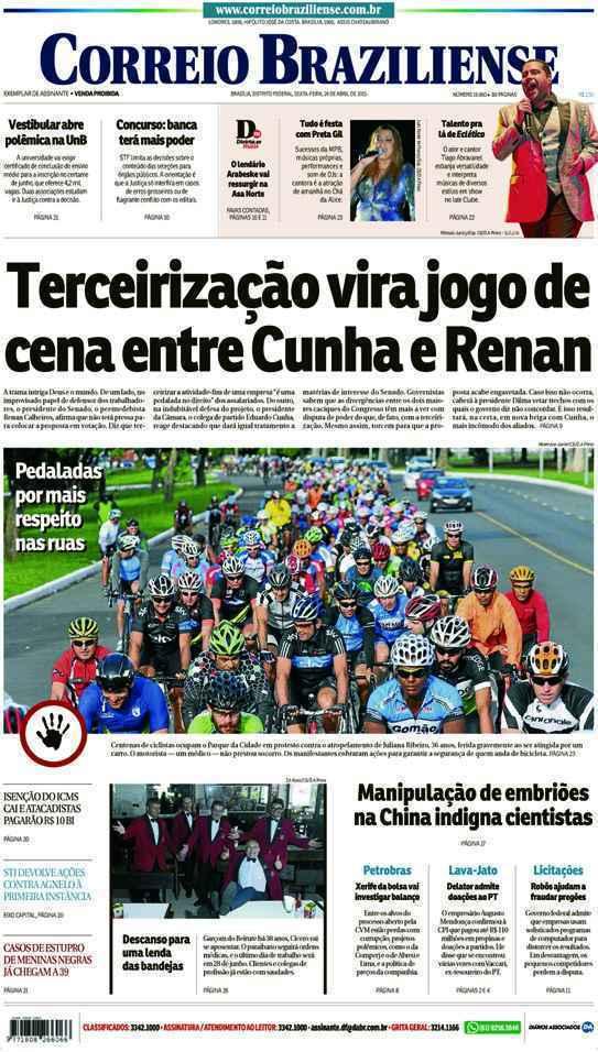 Correio Braziliense, 24 de Abril de 2015