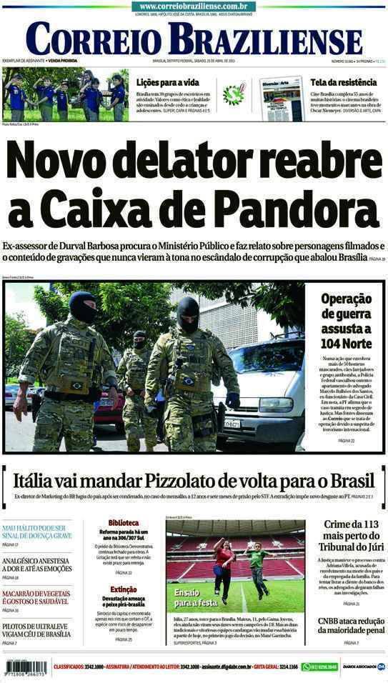 Correio Braziliense, 25 de Abril de 2015