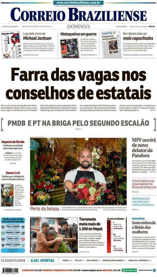 Correio Braziliense, 26 de Abril de 2015