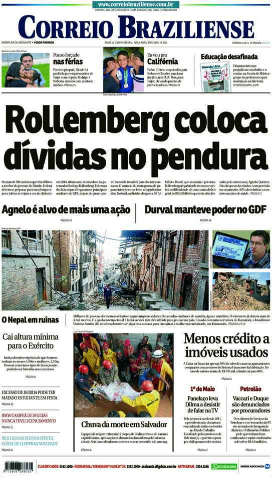 Correio Braziliense, 28 de Abril de 2015