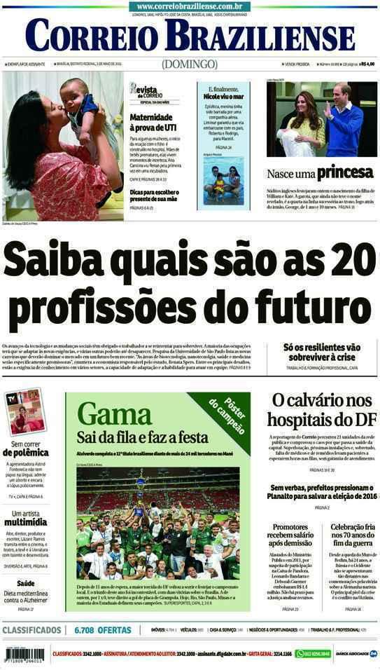 Correio Braziliense, 03 de Maio de 2015