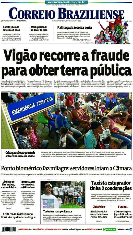Correio Braziliense, 05 de Maio de 2015