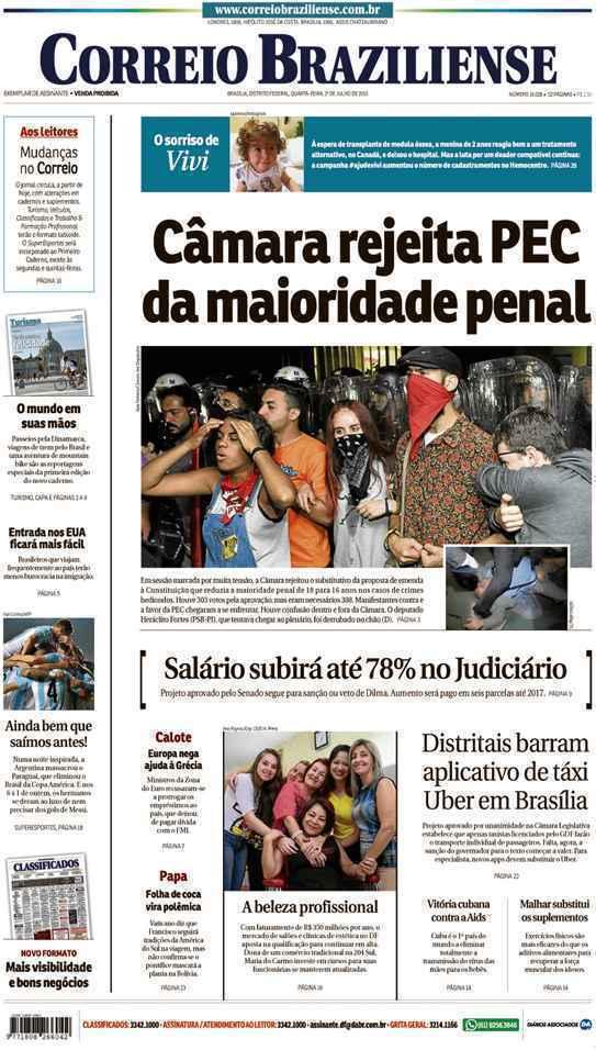 Correio Braziliense, 01 de Julho de 2015