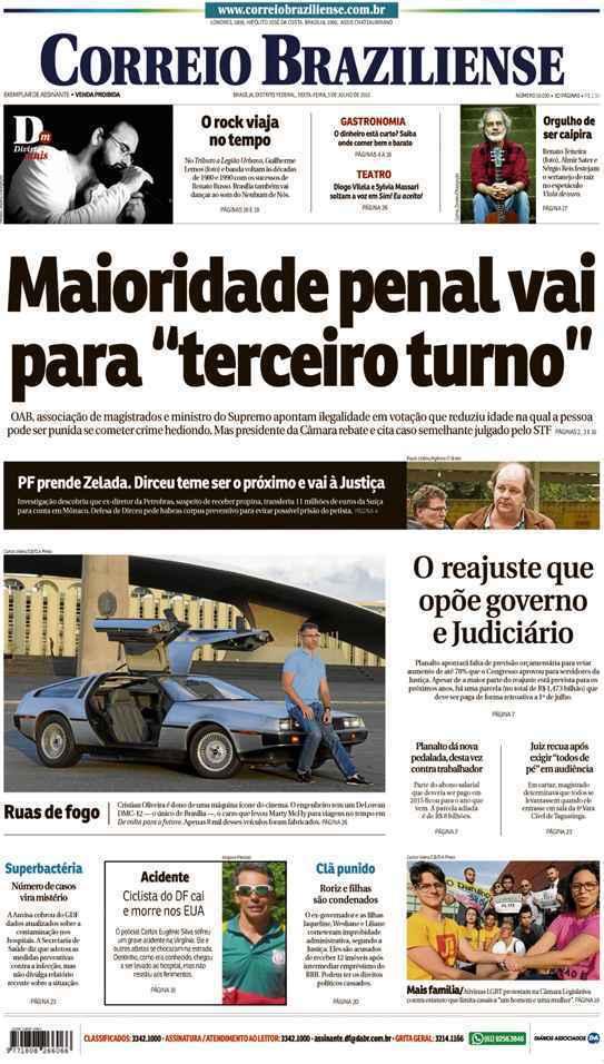 Correio Braziliense, 03 de Julho de 2015