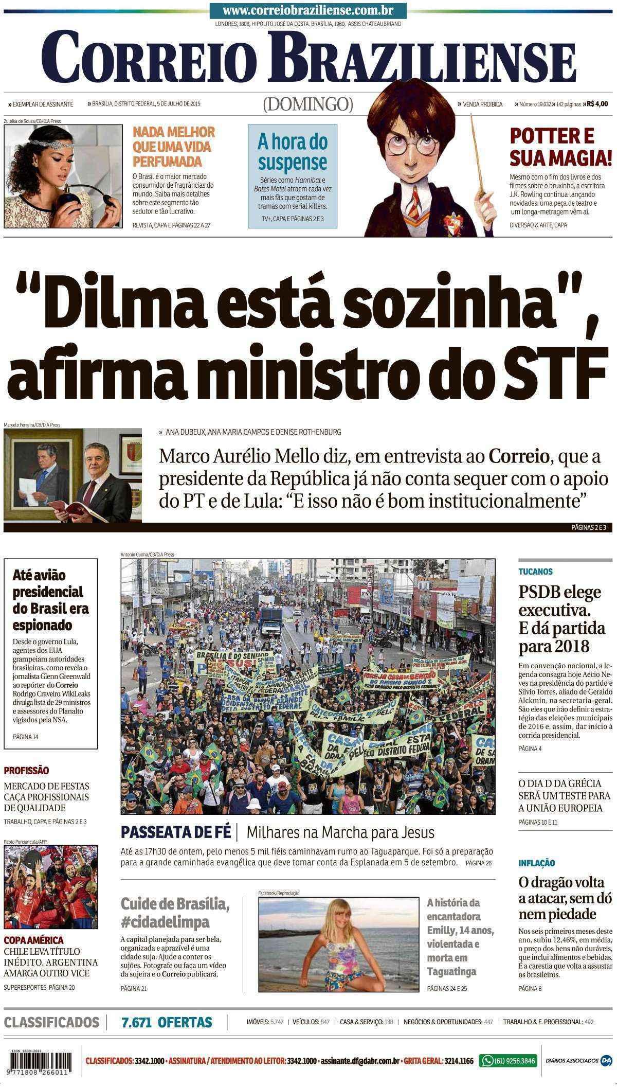 Correio Braziliense, 05 de Julho de 2015