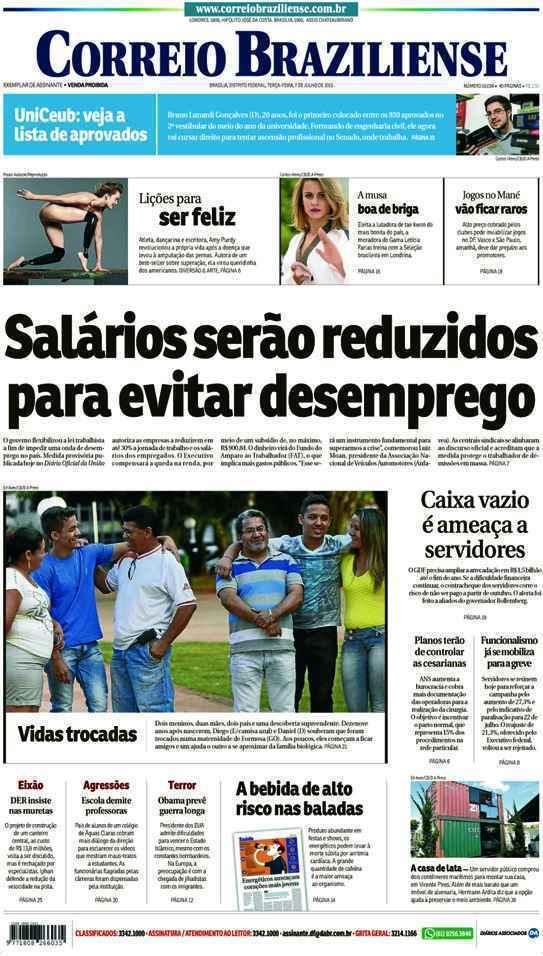 Correio Braziliense, 07 de Julho de 2015
