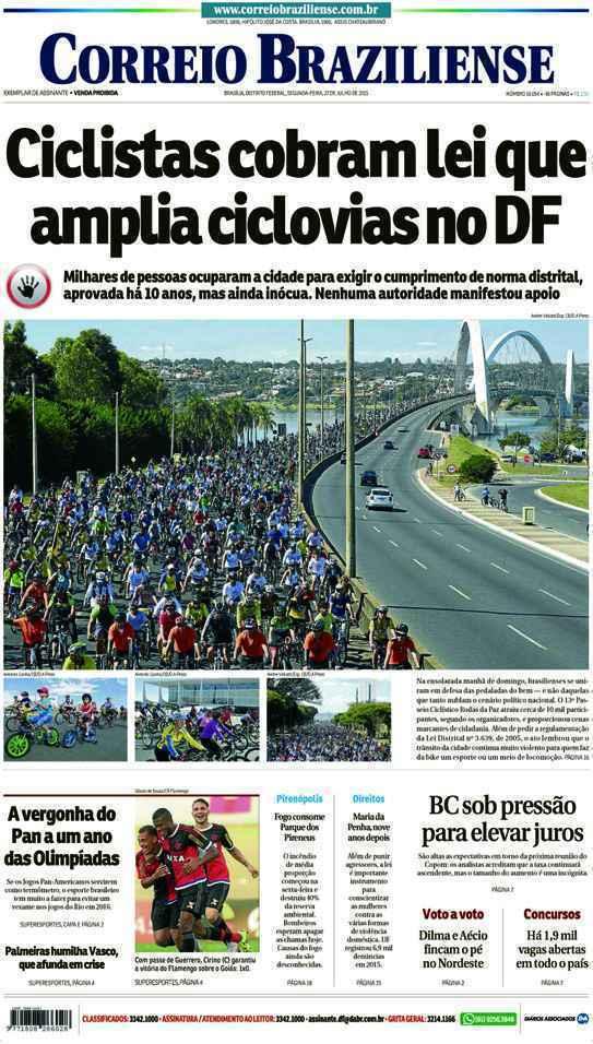 Correio Braziliense, 27 de Julho de 2015