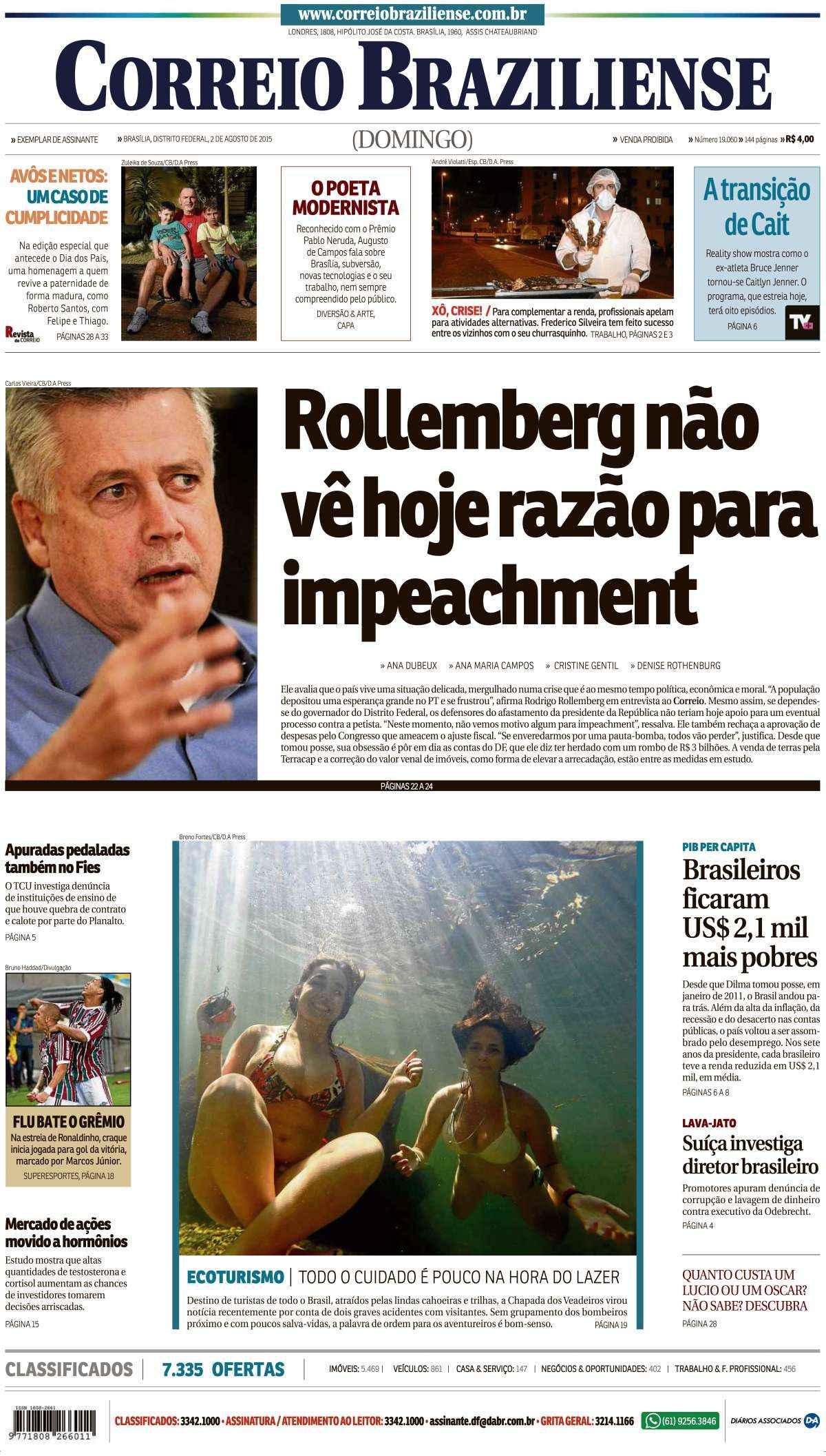 Correio Braziliense, 02 de Agosto de 2015