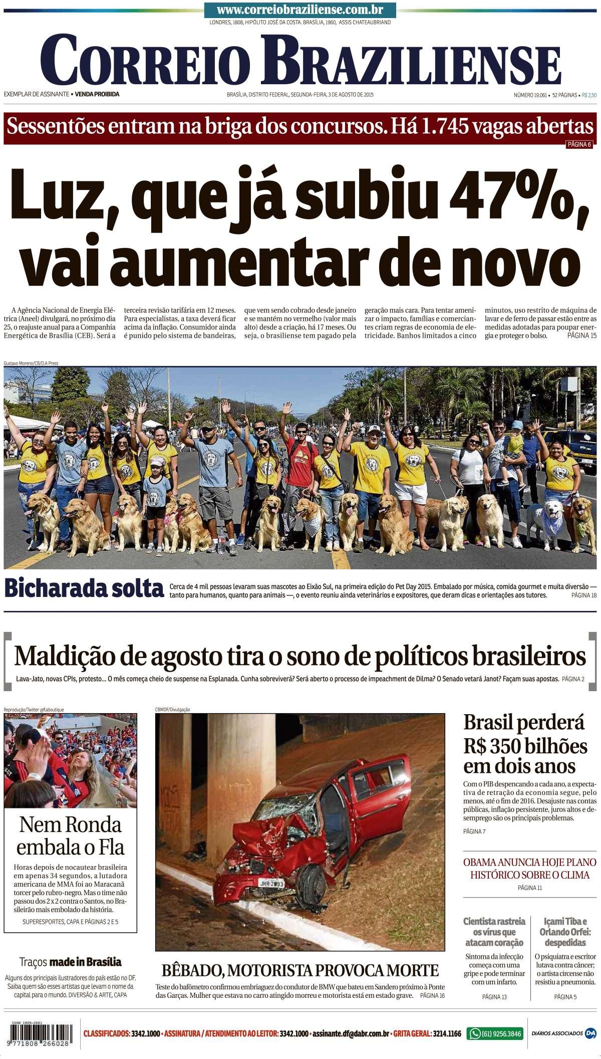 Correio Braziliense, 03 de Agosto de 2015