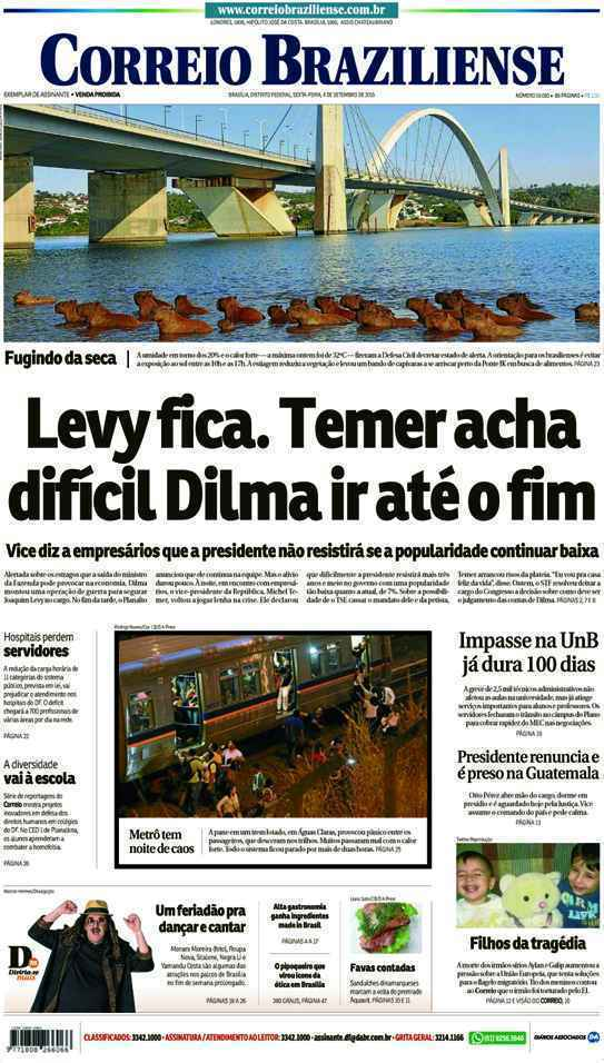 Correio Braziliense, 04 de Setembro de 2015