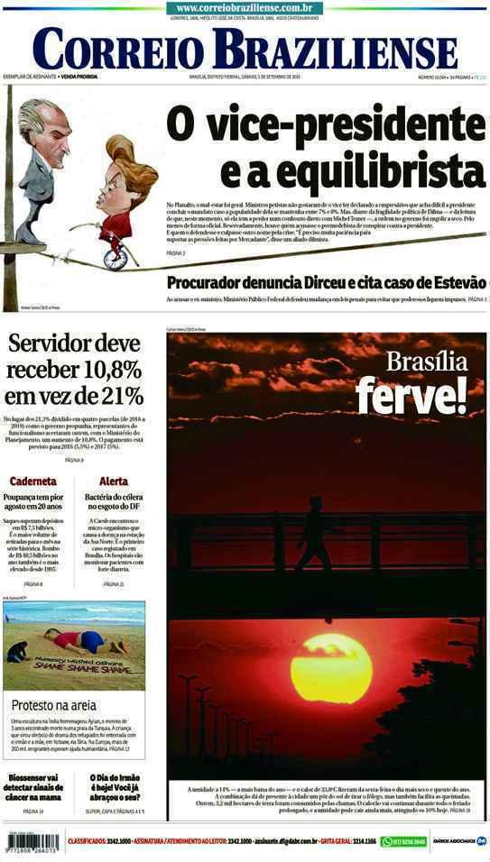 Correio Braziliense, 05 de Setembro de 2015