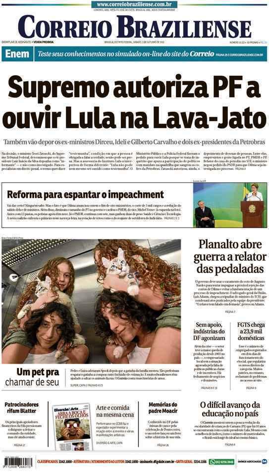 Correio Braziliense, 03 de Outubro de 2015