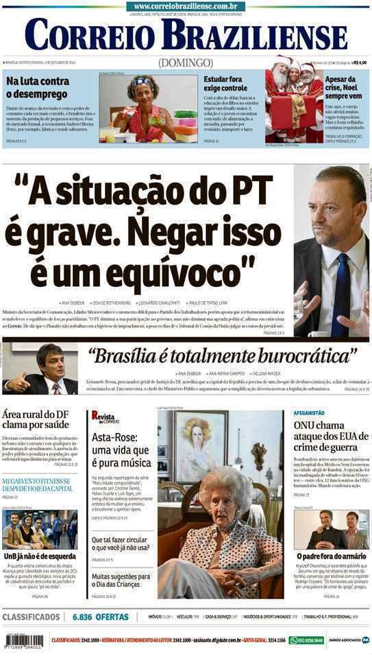 Correio Braziliense, 04 de Outubro de 2015