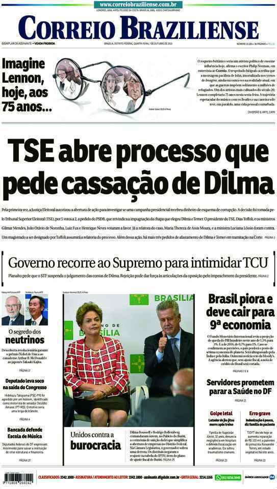 Correio Braziliense, 07 de Outubro de 2015