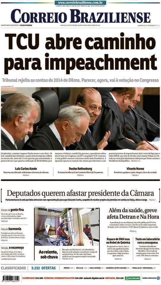 Correio Braziliense, 08 de Outubro de 2015
