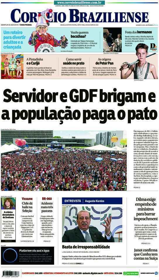 Correio Braziliense, 09 de Outubro de 2015