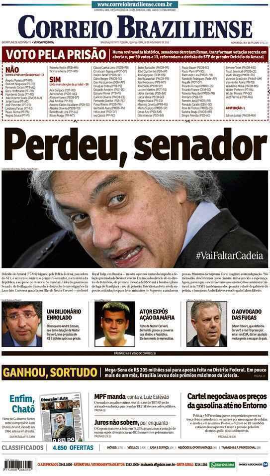 Correio Braziliense, 26 de Novembro de 2015