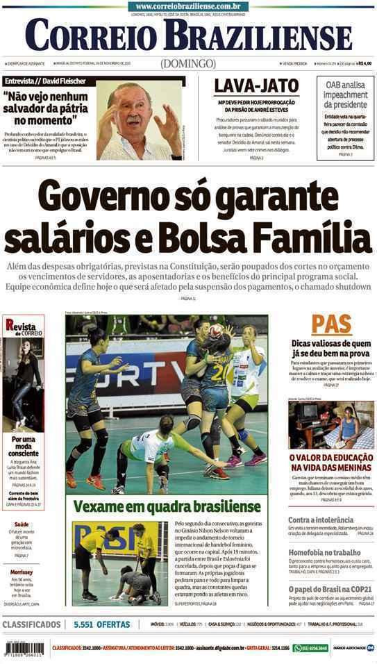 Correio Braziliense, 29 de Novembro de 2015