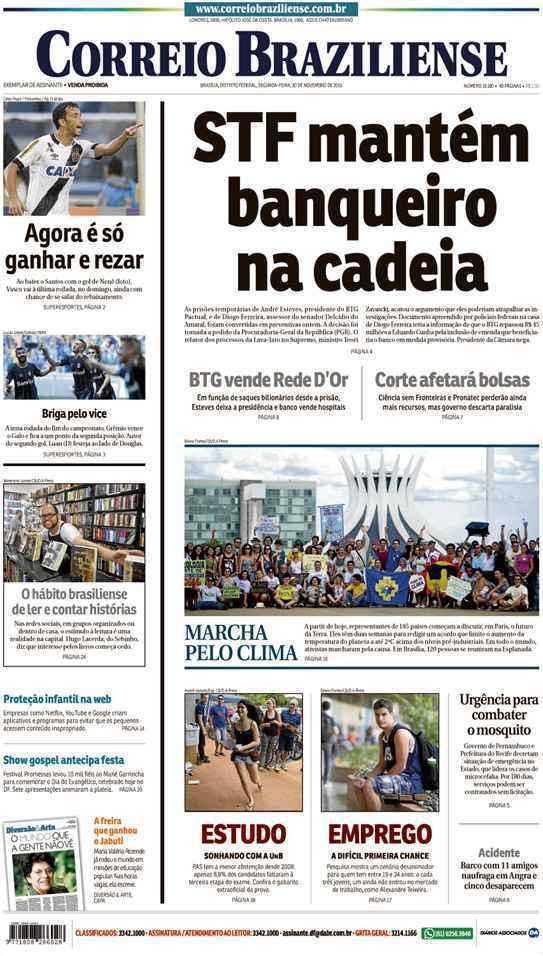 Correio Braziliense, 30 de Novembro de 2015