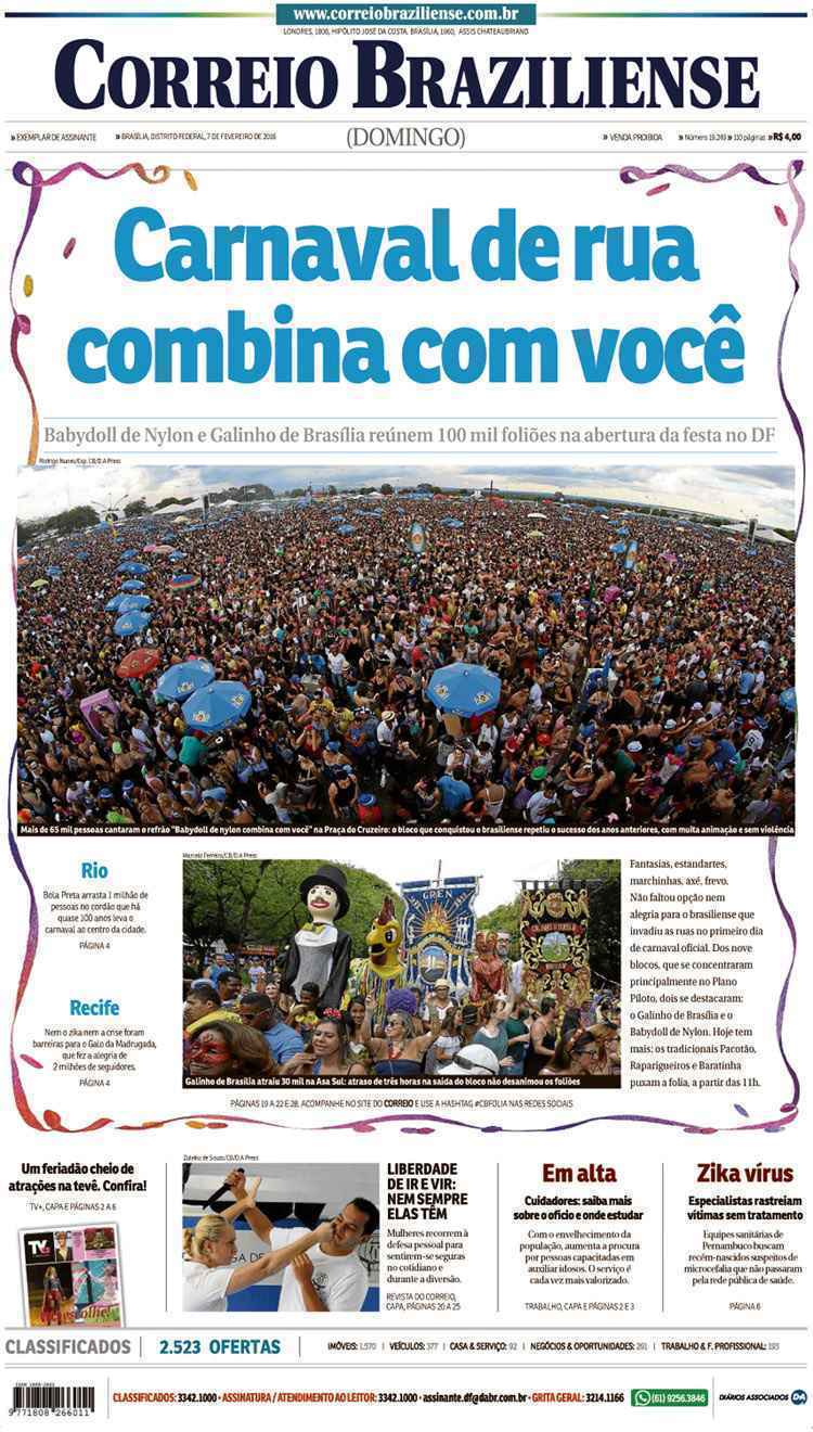 Correio Braziliense, 07 de Ferveiro de de 2016