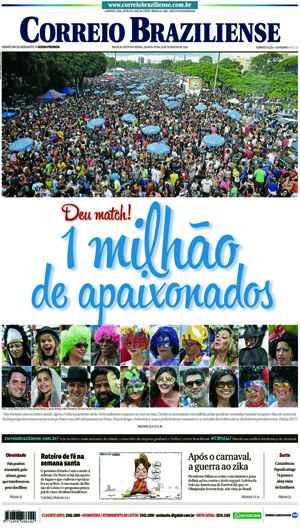 Correio Braziliense, 10 de Ferveiro de de 2016
