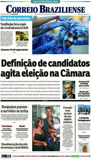 Correio Braziliense, 12 de Julho de 2016