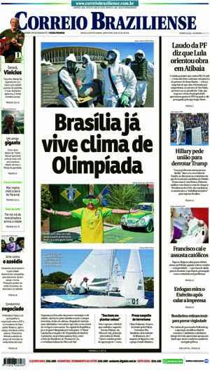 Correio Braziliense, 29 de Julho de 2016