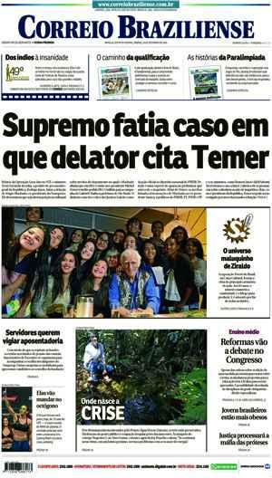 Correio Braziliense, 24 de Setembro de 2016