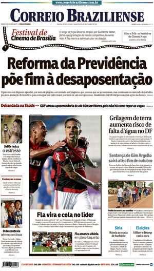 Correio Braziliense, 26 de Setembro de 2016