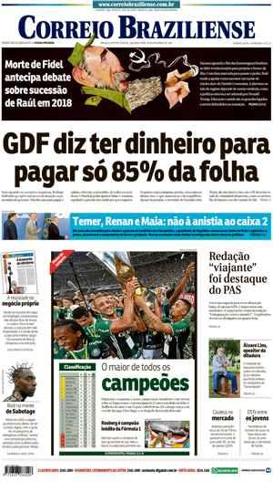 Correio Braziliense, 28 de Novembro de 2016