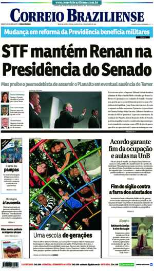 Correio Braziliense, 08 de Dezembro 2016