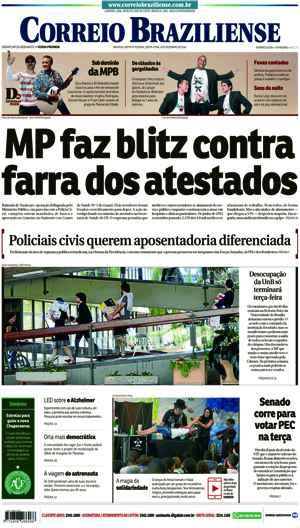 Correio Braziliense, 09 de Dezembro 2016