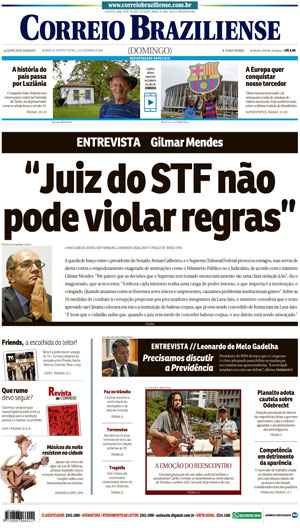 Correio Braziliense, 11 de Dezembro 2016