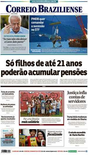 Correio Braziliense, 23 de Janeiro de 2017