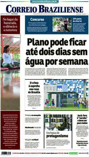 Correio Braziliense, 21 de Ferveiro de de 2017