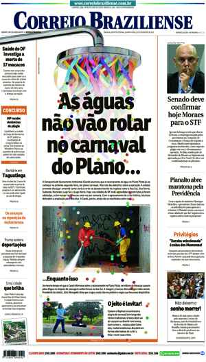 Correio Braziliense, 22 de Ferveiro de de 2017