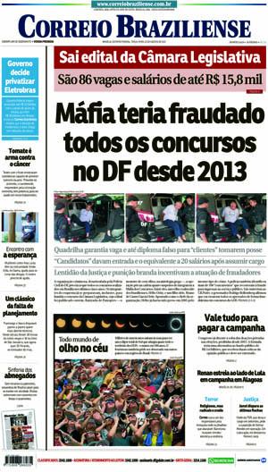 Correio Braziliense, 22 de Agosto de 2017