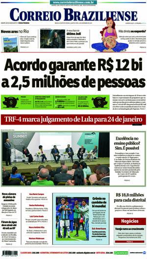 Correio Braziliense, 13 de Dezembro 2017