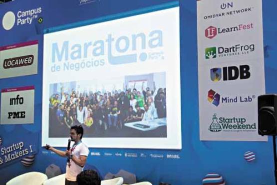 As palestras sobre modelo de negócios e gestão de startups foram concorridas: os campuseiros aprenderam como começar uma empresa e mantê-la viva no mercado (Willian Alves/Divulgação)