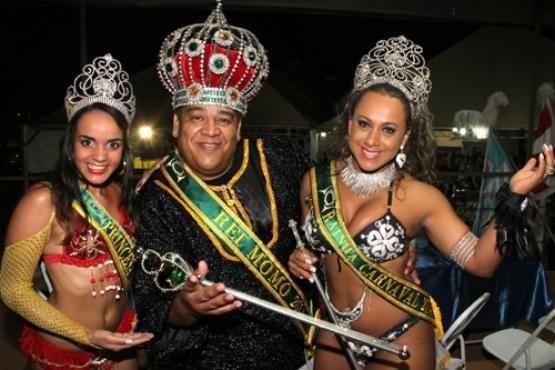 Princesa Bruna Ribeiro, Rei Momo Ednilson Andrade e Rainha Veruska Souza