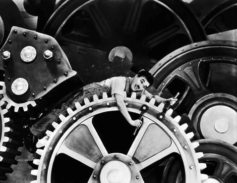Em Tempos modernos, cr�ticas � rotina dos empregados (Acervo Continenta/Reprodu��o)